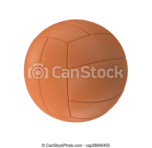Volleyball isolated on a white background - csp38846455