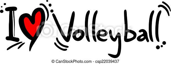 Volleyball love - csp22039437