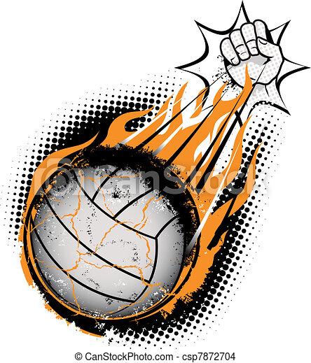 Volleyball Meteor - csp7872704