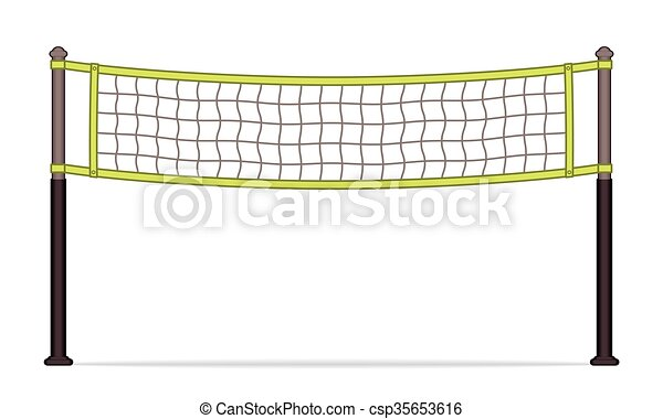 volleyball net volleyball net on white background with shadow rh canstockphoto com Indoor Volleyball Net Volleyball Net Graphics