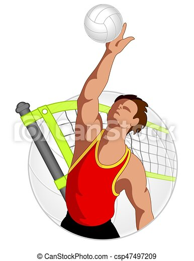 volleyball player male - csp47497209