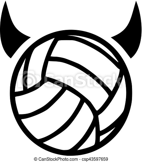volleyball with devil horns clipart vector search illustration rh canstockphoto com volleyball graphics for t shirts volleyball graphics for t shirts