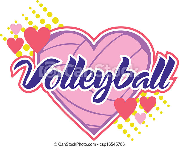 volleyball with hearts - csp16545786