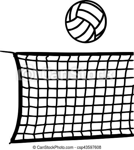 volleyball with net vector clipart search illustration drawings rh canstockphoto com