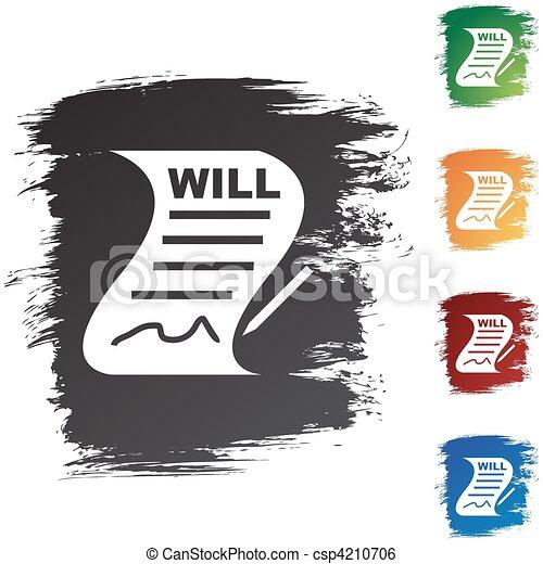 volonté, signé - csp4210706