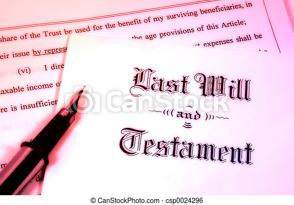 volonté, testament - csp0024296