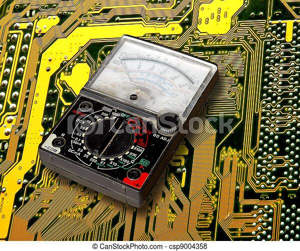 volt meter on circuit board - csp9004358