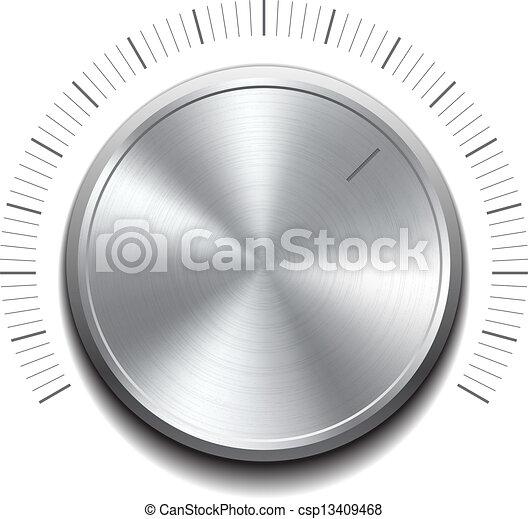 Volume button -music knob - csp13409468