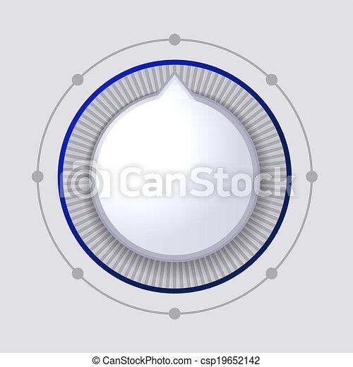 Volume Control Dial White Button Vector - csp19652142
