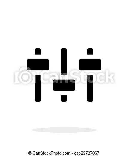 Volume control. Equalizer icon on white background. - csp23727067