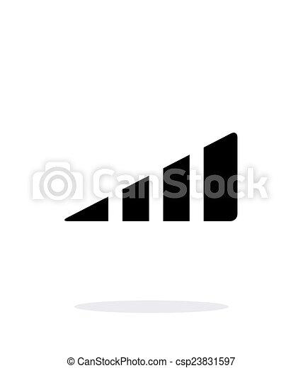 Volume control indicator icon on white background. - csp23831597
