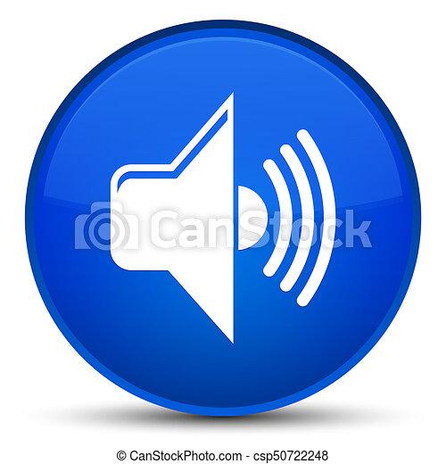 Volume icon special blue round button - csp50722248
