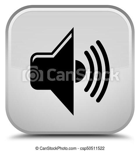 Volume icon special white square button - csp50511522