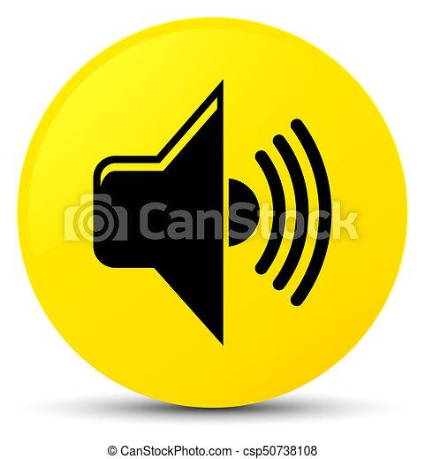 Volume icon yellow round button - csp50738108