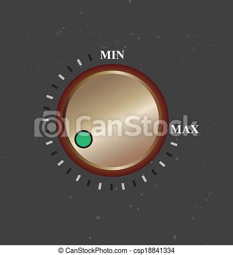 Volume knob - csp18841334