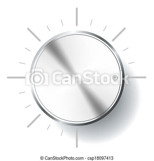 Volume knob. - csp18097413
