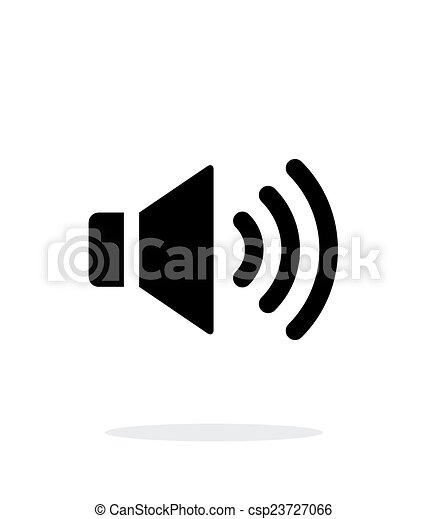 Volume max. Speaker icon on white background. - csp23727066