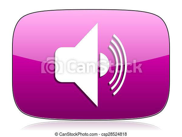 volume violet icon music sign - csp28524818