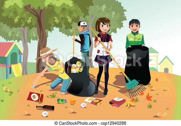Volunteer kids - csp12940288