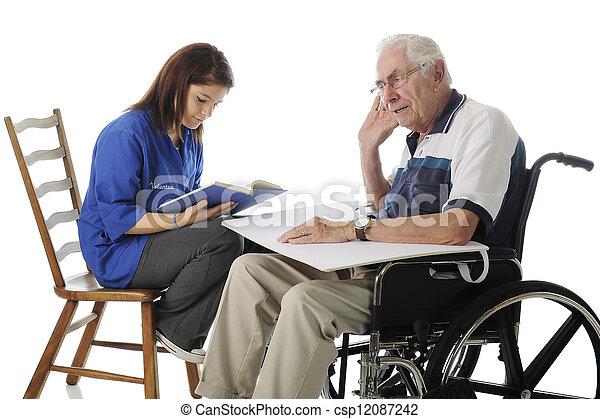 Volunteer with the Elderly - csp12087242