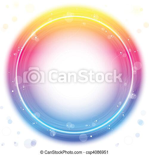 vonkeelt, cirkel, grens, swirls., rood - csp4086951