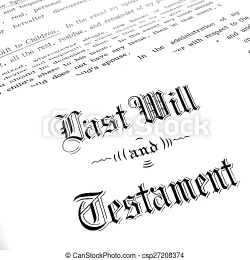vontade, testamento, último - csp27208374