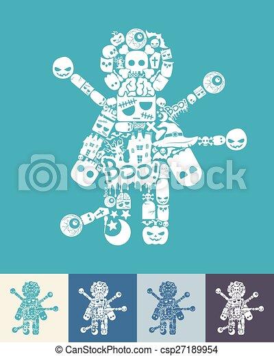 voodoo Doll icon - csp27189954
