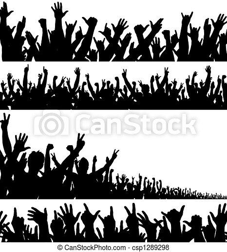 voorgronden, menigte - csp1289298