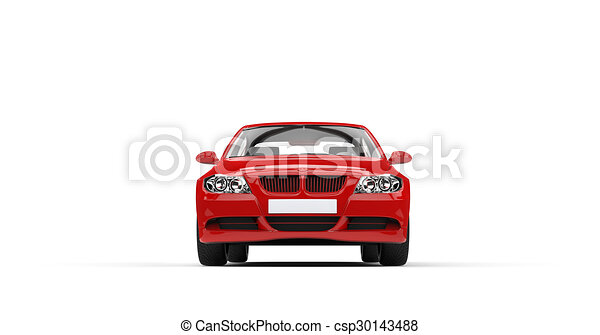 voorkant, auto, moderne, rood - csp30143488