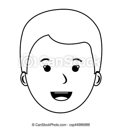 voorkant jongen aanzicht omtrek gezicht jongen