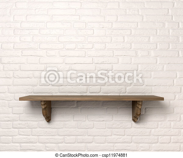 Houten Plank Voor Aan Muur.Voorkant Plank Muur Opgeklaarde Ruimte Houten Plank Steunen
