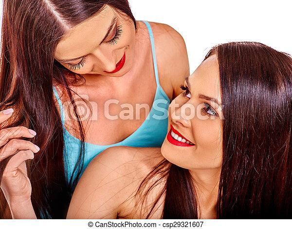 Naakte lesbische beelden
