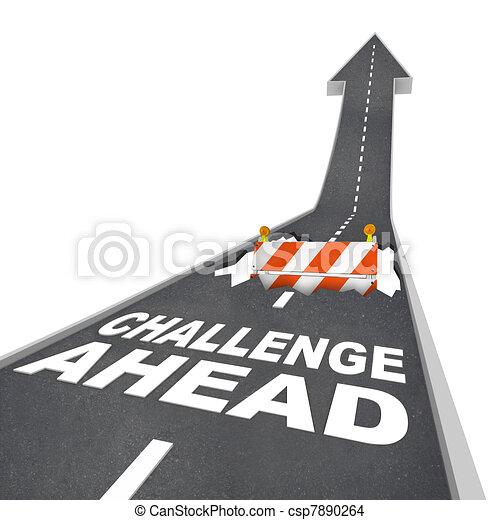voraus, gefahr, herausforderung, baugewerbe, loch, warnung, straße - csp7890264