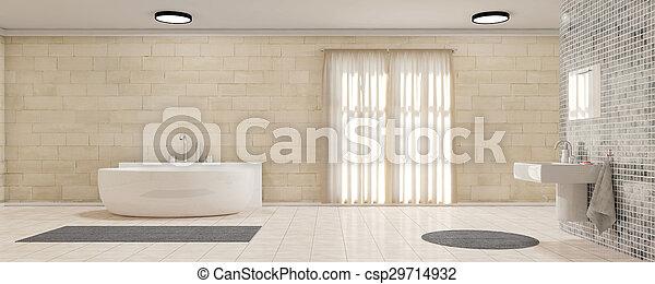 vorhänge, badezimmer, panorama