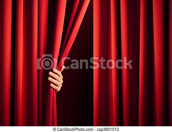 Ich öffne den Vorhang - csp3601013
