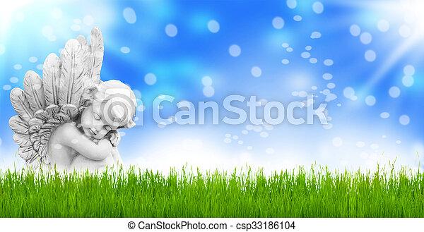 vormund, ostern, engel - csp33186104