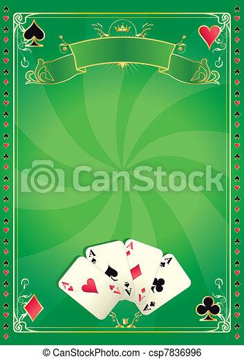 Vortex casino green background - csp7836996