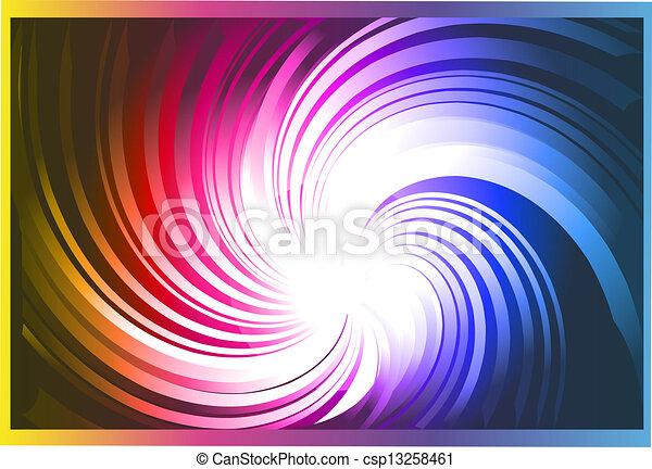 Vortex with Rainbow gradient background - csp13258461