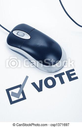 votación, en línea - csp1371697