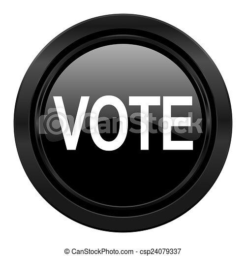 vote black icon - csp24079337