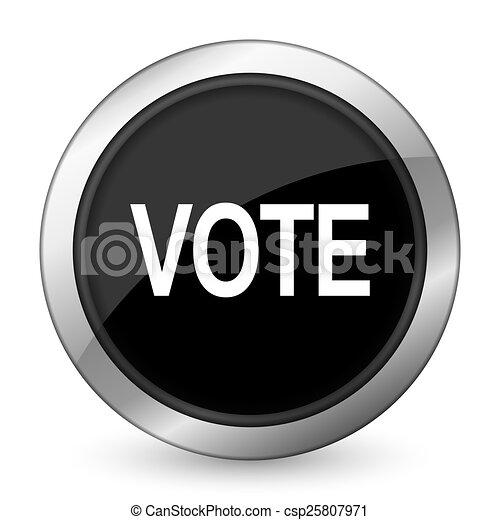 vote black icon - csp25807971
