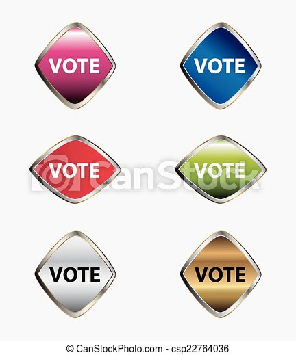 Vote Button icon set - csp22764036