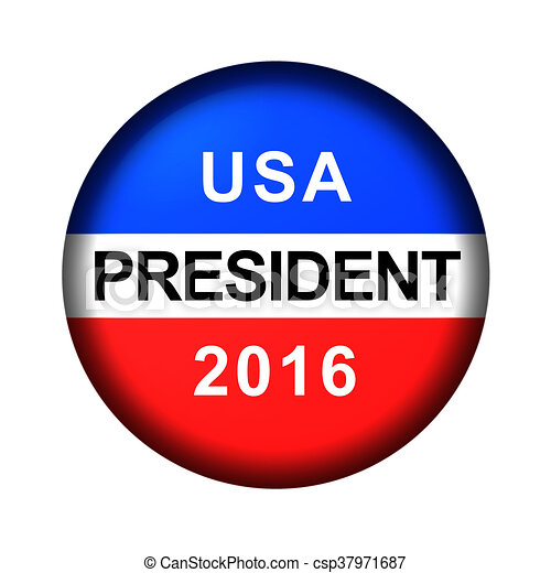 Vote Button President - csp37971687