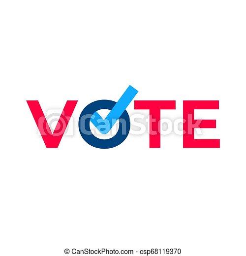 Vote check mark ballot. - csp68119370