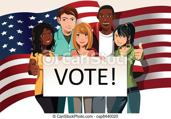 vote, gens - csp8440020