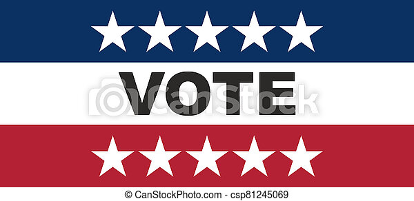 Vote on US America election day concept. - csp81245069