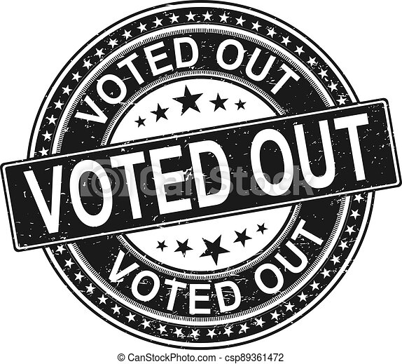 vote out. stamp. black round grunge vintage vote sign - csp89361472