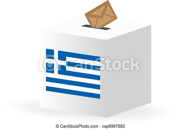 vote poll ballot box for greece, greek elections - csp6997682