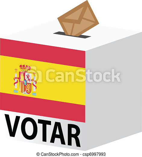 vote poll ballot box for spain elections - csp6997993
