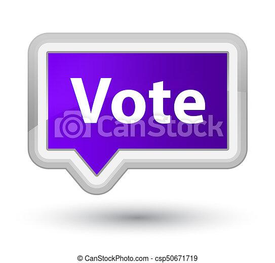 Vote prime purple banner button - csp50671719